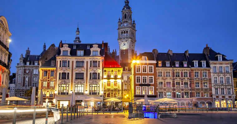 De binnenstad van Lille