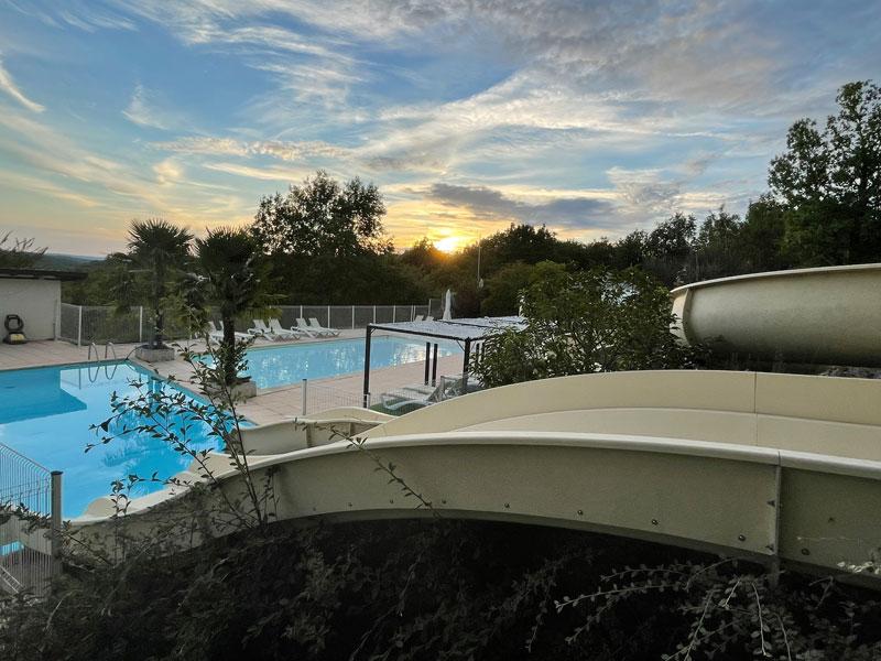 Francecomfort zwembad met glijbaan